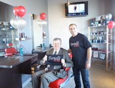 Mayor Rob Burton at Fortelli for Men Salon and Spa