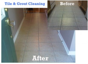 Tile grout cleaning cleaner