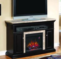 electric fireplaces entertainment console